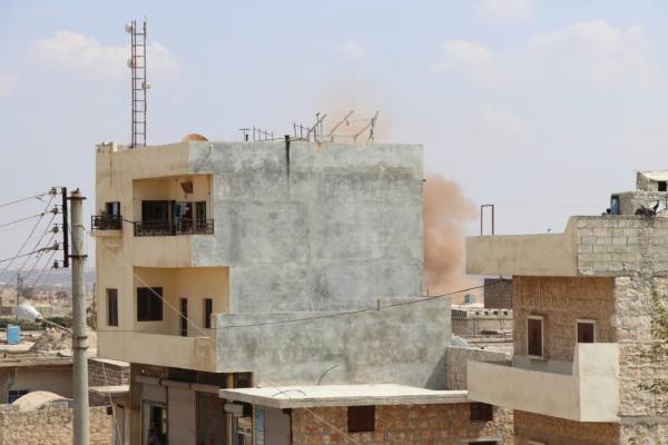 الاحتلال يقصف قرية آقيبة