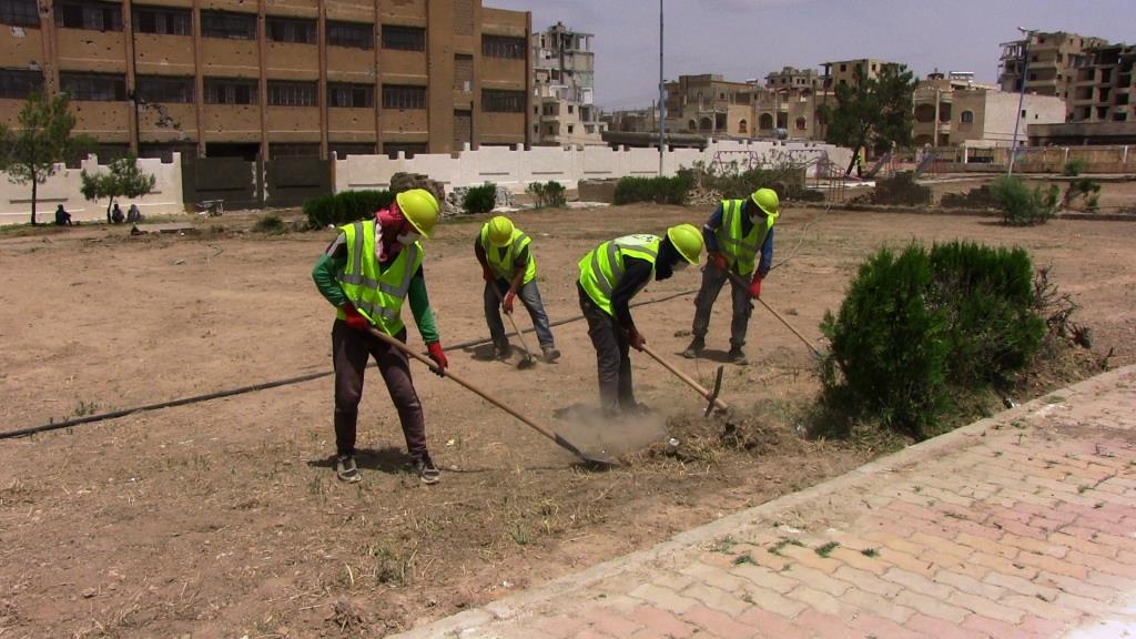 بلدية الشعب في الرقة...تأهيل العديد من الحدائق وخطط للعمل بأخرى