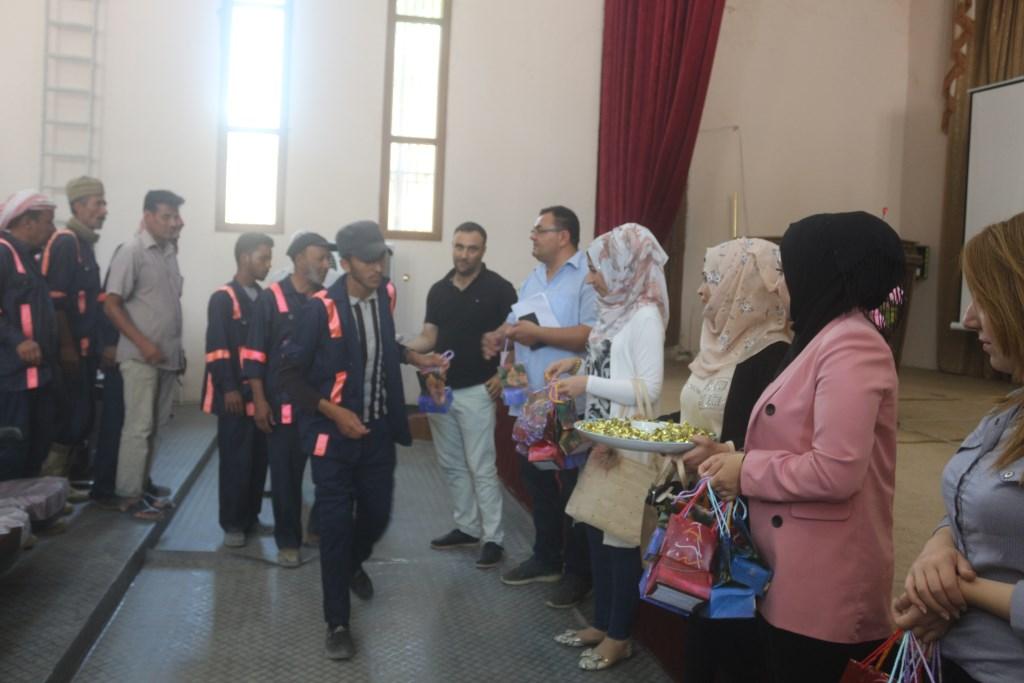 تكريم عمال النظافة في مدينة منبج وريفها
