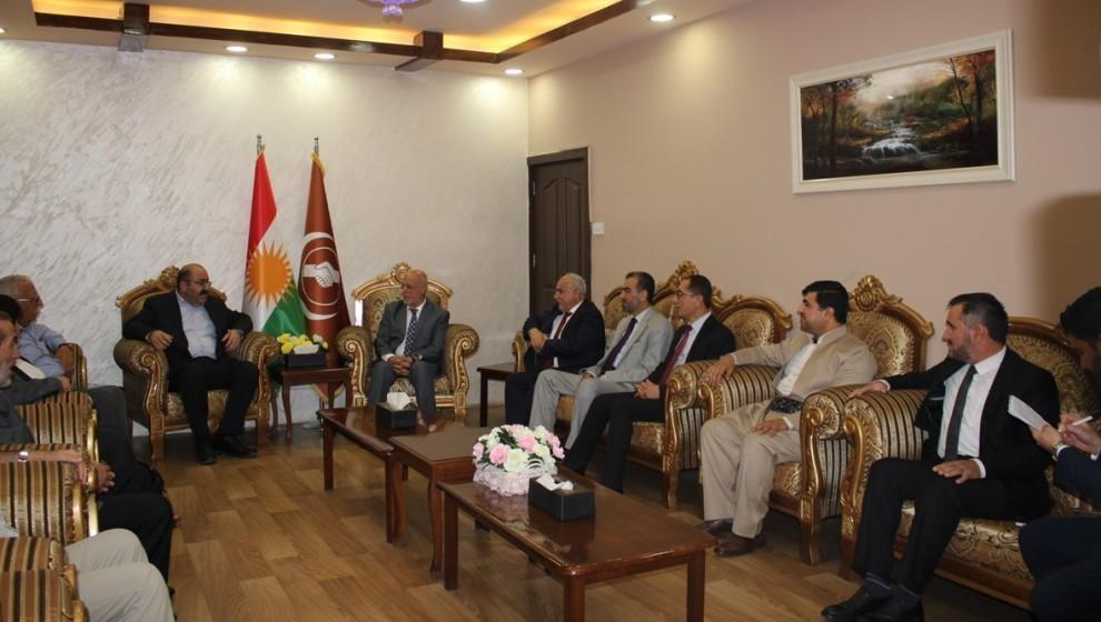 وفد الأحزاب السياسية يجتمع مع الاتحاد الإسلامي الكردستاني
