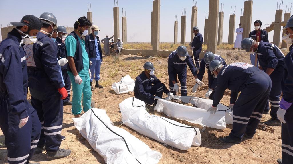 انتشال 74 جثة في بلدة هجين والعمل مستمر بوتيرة عالية