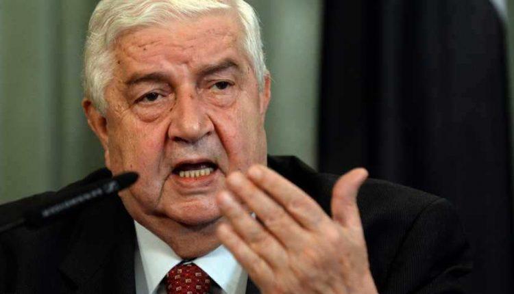 المعلم مجدداً: على أنقرة التوقف عن دعم الإرهابيين والانسحاب من الأراضي السورية