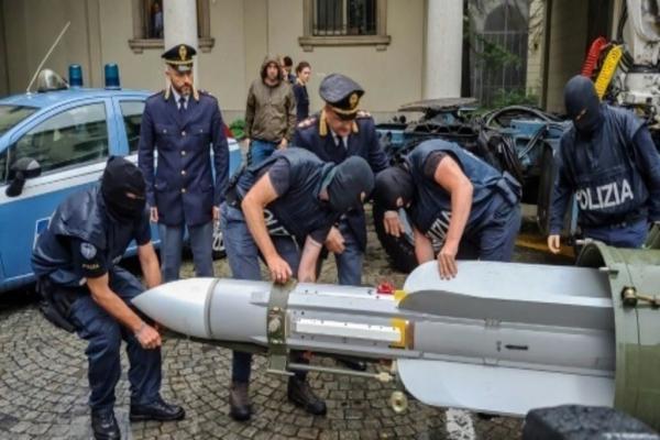 ضبط صاروخ يستخدمه الجيش القطري في ايطاليا