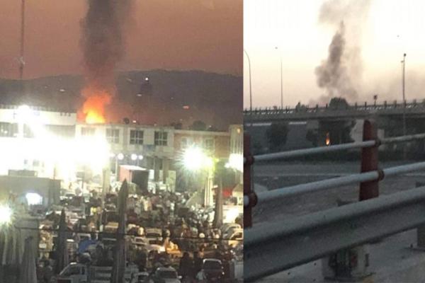 حريق يلتهم مستودعاً للأسلحة في هولير