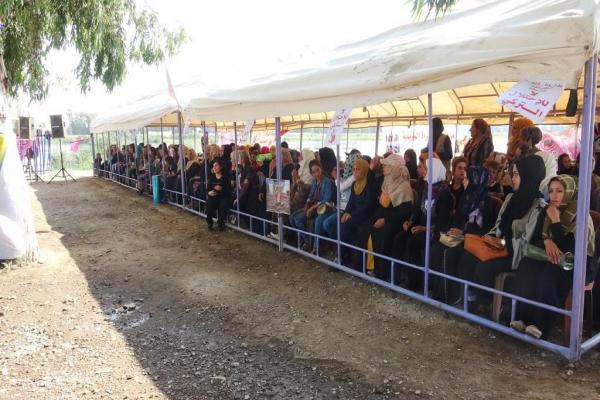 من خيمة النساء بالرقة النساء يؤكدن رفض الاحتلال التركي