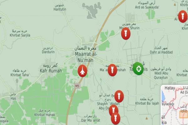 مصدر: طائرات سورية تقصف قاعدة تركية في معرة النعمان