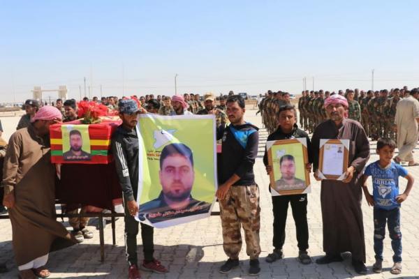 أهالي الشدادي يشيّعون جثمان المقاتل غزوان إلى مثواه الأخير