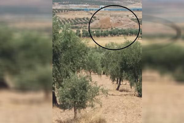حفر تل قرية علكي وسرقة محتوياته