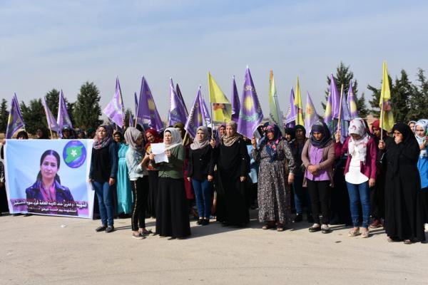 نساء مقاطعة شهباء يؤكدن دعمهن لأهالي شمال وشرق سوريا