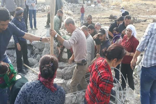 ارتفاع عدد جثامين المدنيين التي تنتشل من مشرافة إلى 16 مدني