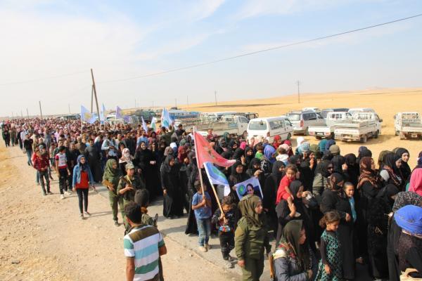 أهالي تل حوذان بريف منبج: سنحمي هذه المنطقة لأنها تحررت بدماء أبنائنا