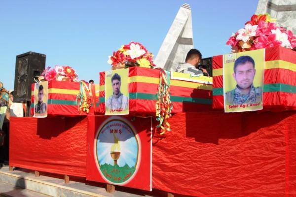 كوباني تشيّع جثامين أربعة من شهدائها