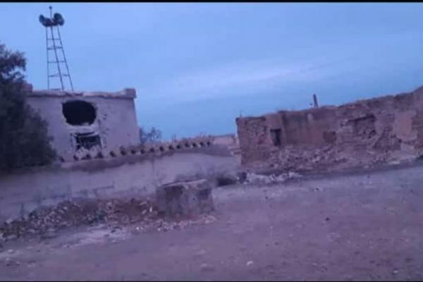 استشهادُ إمرأة وإصابة مدنيّ و5 من عناصر النّظام بريف منبج الغربيّ