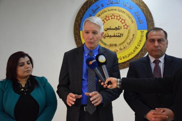 رالف إبراهام: انا معجب بالتطور الحاصل في شمال وشرق سوريا رغم الحروب