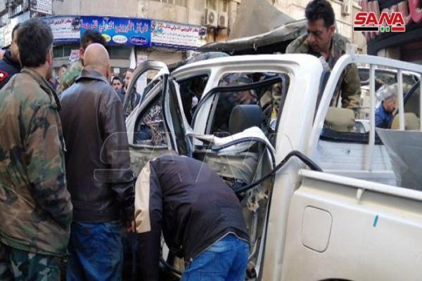 انفجار عبوة ناسفة في منطقة المرجة بدمشق