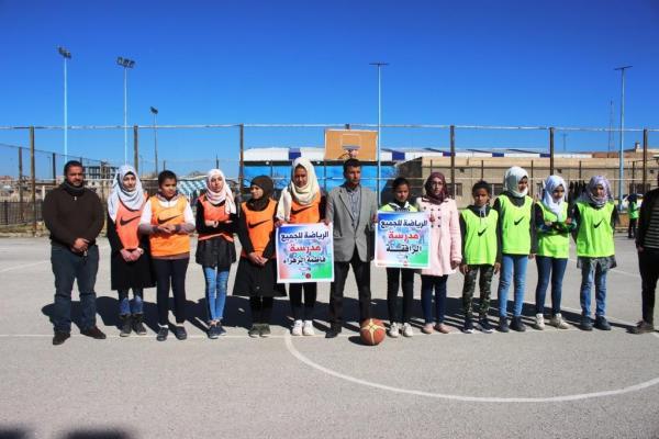 لجنة التربية والتعليم تنظم أول دوري كرة سلة للإناث في مدينة الرقة