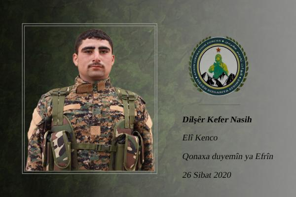 قوات تحرير عفرين: دلشير آمن بالنضال الحر والديمقراطي للشعوب العربية والكردية
