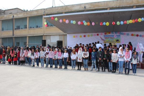 تقديراً لجهود المعلمين وتحفيزاً للطلبة لجنة التربية في منبج تكرمهم