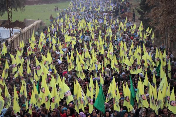 الآلاف ينتفضون في الشهباء من أجل القائد أوجلان