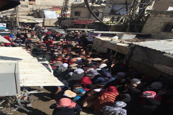 أزمة الخبز في حي زورآفا بالعاصمة دمشق