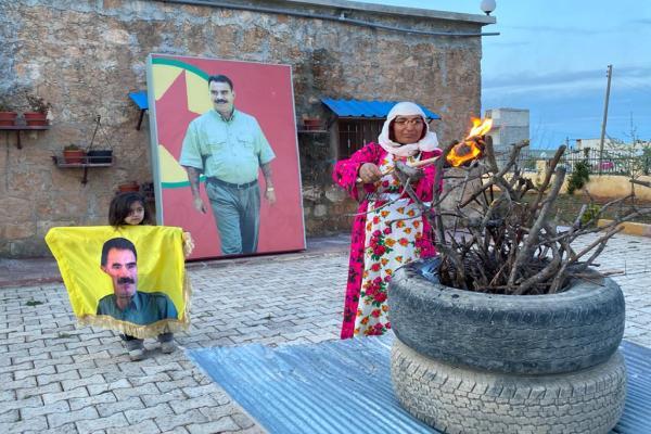 أول قرية مكث فيها أوجلان تحتفل بذكرى ميلاده