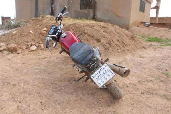 قسد تستولي على دراجة نارية من مرتزقة تركيا تحمل لوحة