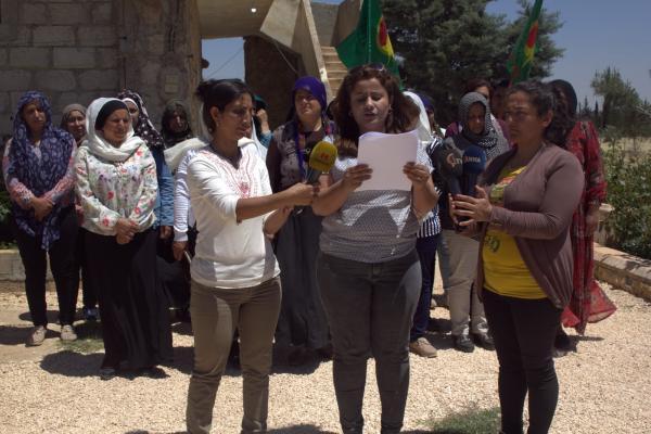 حقوقيات يستنكرن صمت المجتمع الدولي حيال جرائم الاحتلال في عفرين