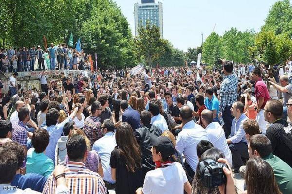 الشّرطة التّركيّة تفرّق مظاهرة ضدّ استبداد حكومة أردوغان