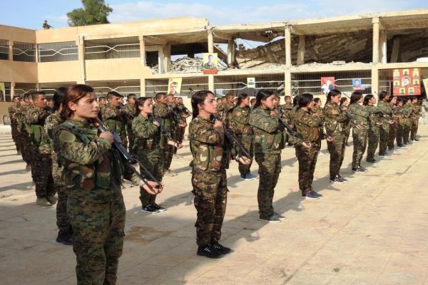 بعد التّوقّف بسبب كورونا... افتتاح 5 دورات عسكريّة جديدة في الرّقّة