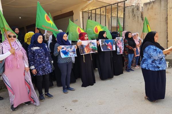 منظمات نسائية في تل كوجر تستنكر انتهاكات الاحتلال ضد النساء في عفرين