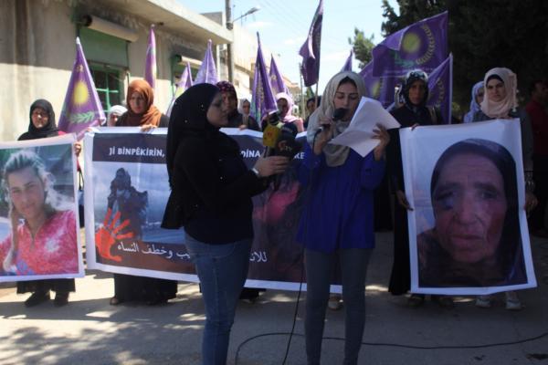 نداءات مطالبة بتحرير المختطفات في المناطق المحتلة