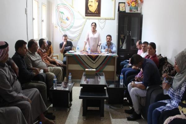 مجلس مقاطعة قامشلو يناقش المعوّقات الّتي يواجهها ناحية تل حميس