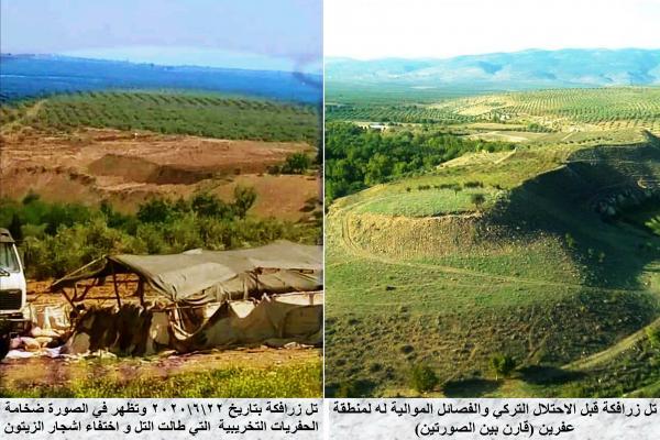 مديرية الآثار تناشد لإيقاف جرائم الاحتلال التّركيّ ومرتزقته بحقّ آثار عفرين