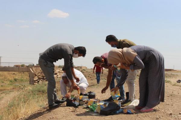 شعبة تموين تل حميس تتلف كمية من المواد منتهية الصلاحية