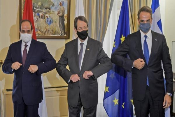 قمة مصر- اليونان- قبرص تدين تقويض تركيا للاستقرار الإقليمي
