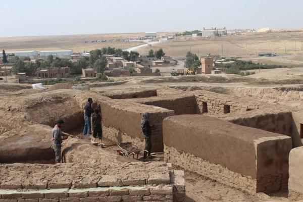 أعمال ترميم في موقع تل بيدر الأثري