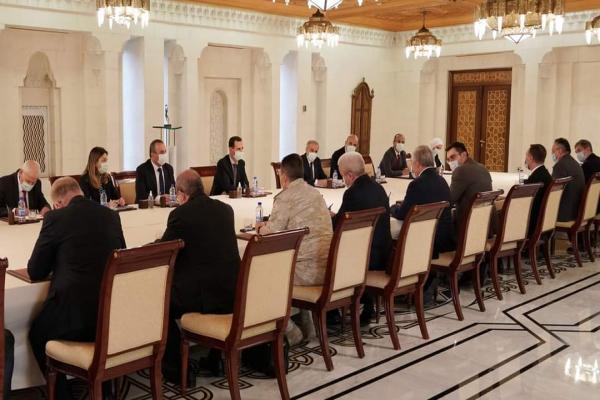 الأسد يلتقي وفدًا روسياً في دمشق