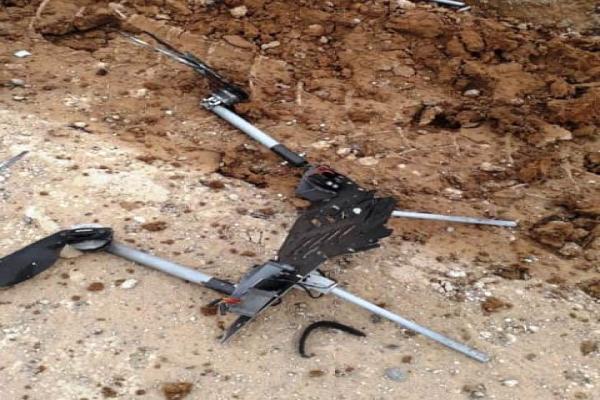 سقوط طائرة استطلاع تركيّة شرقيّ مدينة كوباني