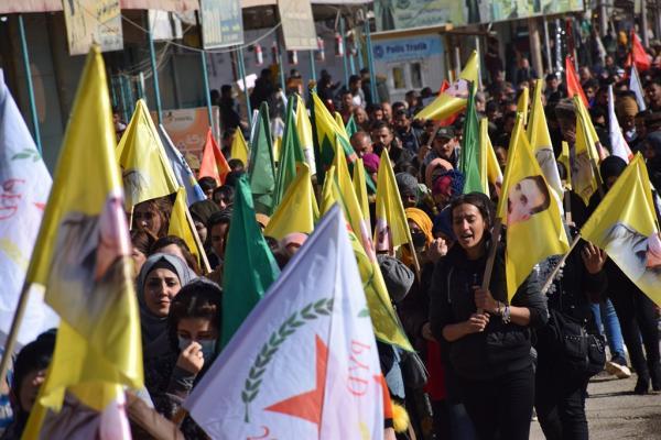 أهالي مقاطعة قامشلو ينتفضون ضد التهديدات التركية