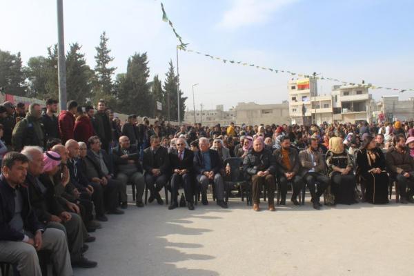 أهالي كوباني يحتفلون بالذكرى السنوية السادسة لتحرير المدينة من داعش
