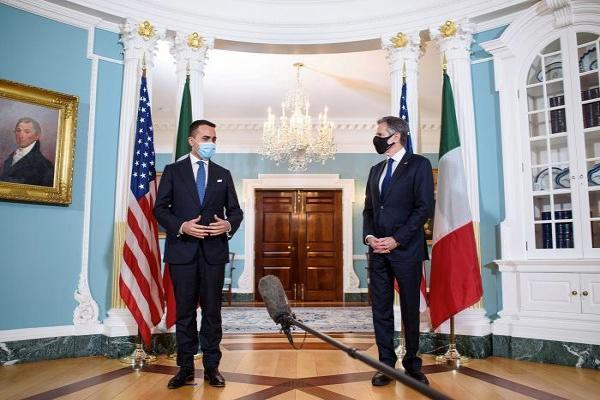 وزير الخارجية الإيطالي يصل إلى واشنطن