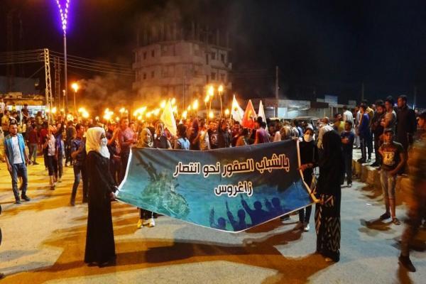 شبيبة الرقة والطبقة ينددون بالهجمات التركية ويدعمون مقاومة الكريلا