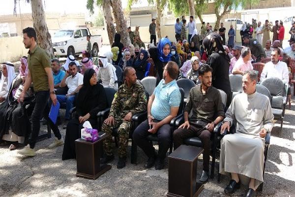 لجنة الداخلية في الطبقة تفتتح مكتباً للسجل المدني في ناحية الجرنية