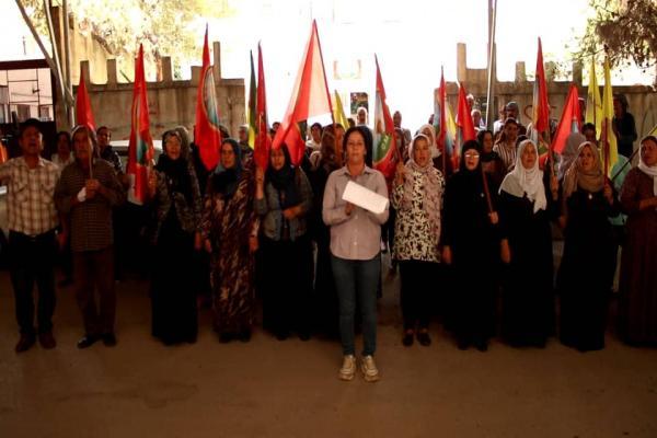 أسر الشهداء تطالب الشعب الكردي بالانتفاض ضد الاحتلال التركي