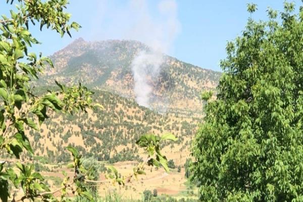 طائرات الاحتلال التركي تقصف ناحية سيدكان شمال هولير في باشور