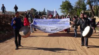مظاهرة لحركة الثقافة والفن بمقاطعة الشهباء تحت شعار