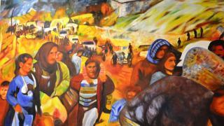 لوحات تبرز مقاومة عفرين وصمودها وانتهاكات الاحتلال التركي
