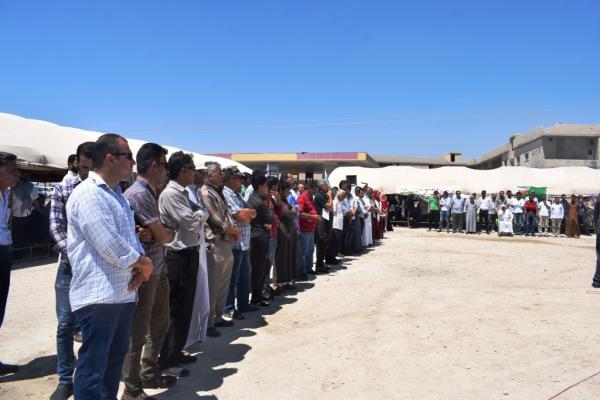 People of Girê Spî continue to stand as human shields on borders