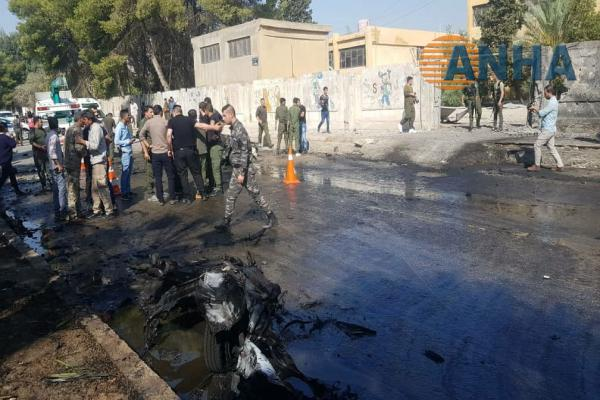 Suicide bombing in the center of Qamishlo city
