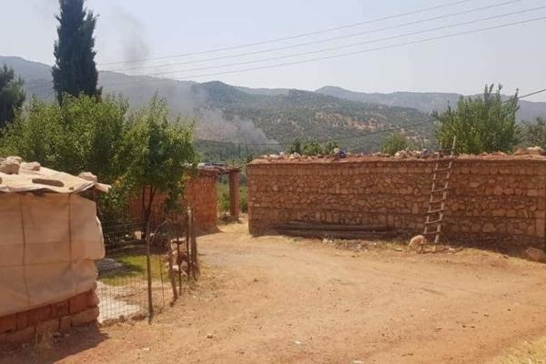 Turkish planes bombed a cemetery
